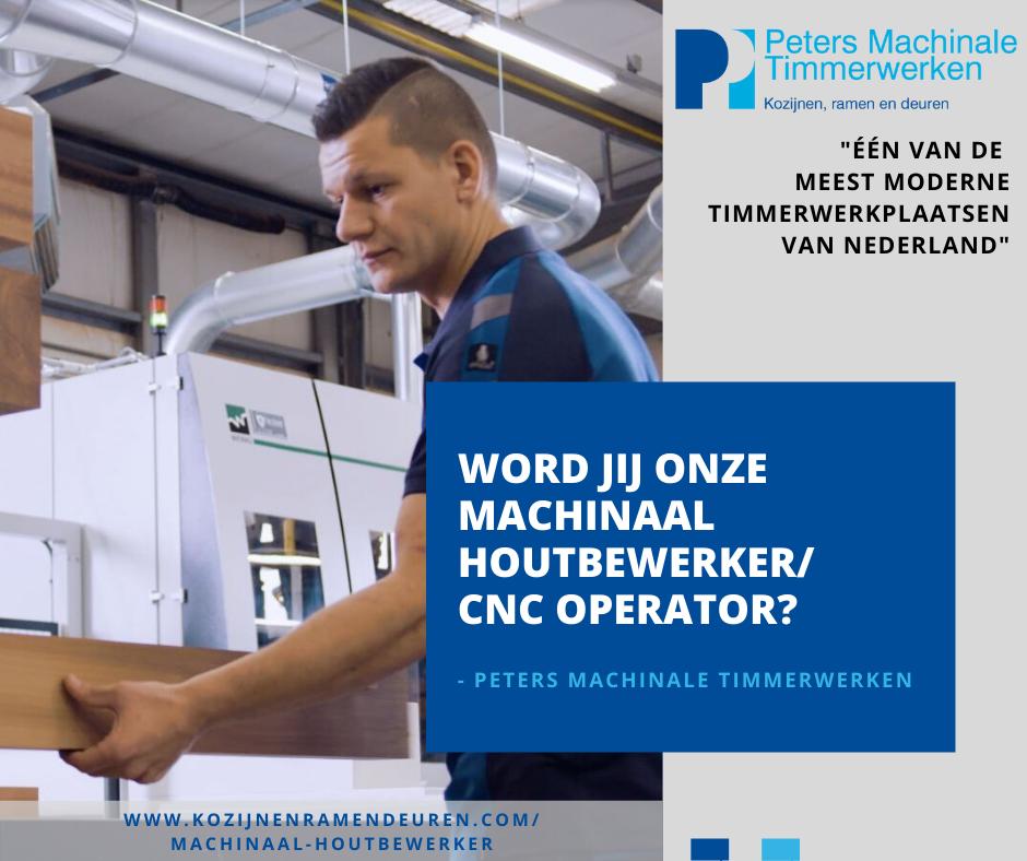 Vacature machinaal houtbewerker – cnc operator